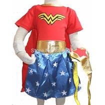 Disfraz Wonder Woman Mujer Maravilla Excelente Calidad