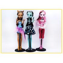 3 Muñecas Tipo Monster High Articuladas