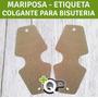 Mariposa, Etiquetas Cartón, Colgantes, Tarjetas Tags