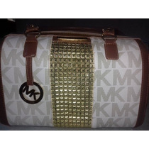 Bolsa Mk Importada Feminina Bau Com Brilho Menor Preço