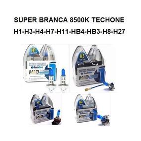Super Branca 8500k Techone H1-h3-h4-h7-h11-hb4-hb3-h8-h27