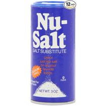 Sustituto De Sal Nu-salt 12 Saleros 3oz C/u Libre De Sodio