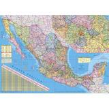 Mapa República Méxicana Mural Mexico Carreteras