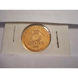 Moneda De Trinidad Y Tobago - 5 Cents. 1972 - 10° Aniversari