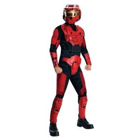 Halo Deluxe Traje Espartano, Rojo, Estándar