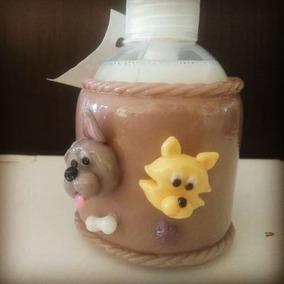 Dispenser Incluye Jabón Líquido Porcelana Fría Perro Gato