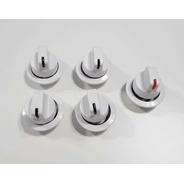 5 Perillas 6mm Originales Cocina Orbis C9500 / C9300 Blanco