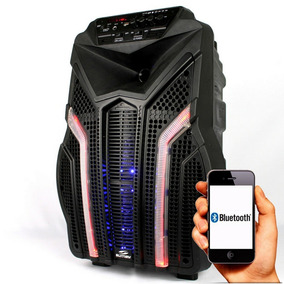 Caixa De Som Amplificada Karaoke Bateria Mic S/fio Bluetooth
