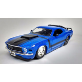 1:24 Ford Mustang Boss 429 1970 Azul Jada Shelby Display