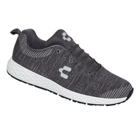Tenis Caballero Marca Charly Mod 102914 Gris/gris