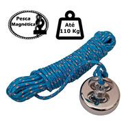 Imã De Neodímio Para Pesca Magnetica 110kg De Tração