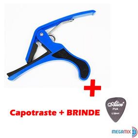 Capotraste Violão Guitarra Elétrica Baixo Ukulele + Brinde