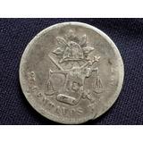 Moneda Antigua 25 Centavos Zs 1888