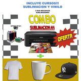Impresora Sublimacion Epson A4 Xp 241 Wifi + Kit + Cursos