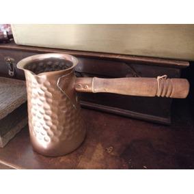 Antigua Cafetera Cobre Martillado