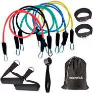 Set Kit De 5 Bandas Elásticas Maverick Entrenamiento Gym
