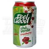 Chá Feel Good Lata 330ml Verde Cranberry Com 06 Unidades