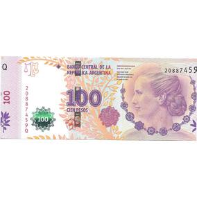 Billete 100 Pesos Eva Peron Serie Q A Izquierda Variedad