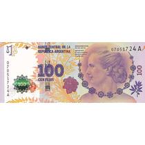 Bottero C001 Col 826a $100 Evita 1er. Diseño S/circ. Palermo
