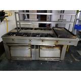 Cocina Industrial 8 Platos 2 Hornos 1 Plancha
