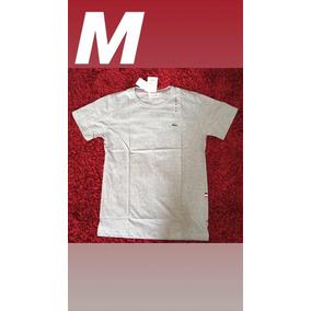 Camiseta Malha Lacoste - Calçados, Roupas e Bolsas Prateado no ... de63c04c4a