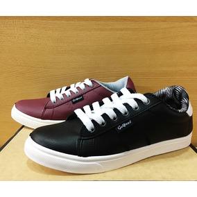 Zapatillas Zapatos Hombre Eco Cuero Con Cordones De 39 Al 44