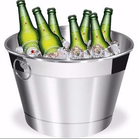 Balde Para Gelo E Cerveja De 8 Litros Em Alumínio Promo