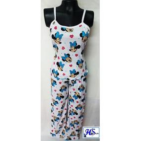 Pijamas Mujer En Pantalón- Blusa En Tiras Algodón ( Hstyle)