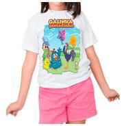 Camiseta Infantil Menina Galinha Pintadinha Pronta Entrega