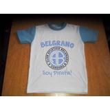 Camiseta Niño Futbol Belgrano De Cordoba Talles 4-16 Amplios