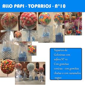Centro De Mesa Golosinas Souvenirs Topario Para Chicos N10