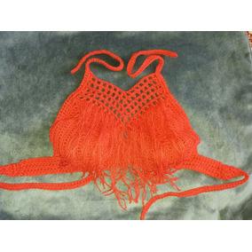 Tops Tejidos Al Crochet En Hilo De Algodon