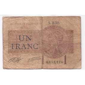 Francia Antiguo Billete 1 Franco 1919
