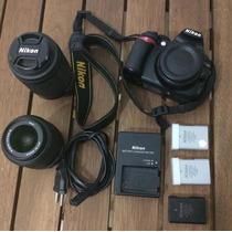 Kit Nikon D3100 + 3 Baterias + Lentes 18-55mm E 55-200mm
