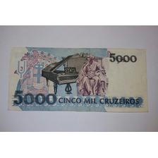 5000 5 Mil Cruzeiros Banco Central Do Brasil - Colección