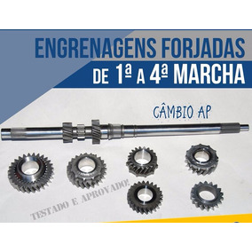 Engrenagens Forjadas De 1ª A 4ª - Câmbio Ap C/ Engate Rápido