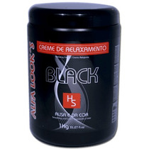 Creme Relaxamento Alfa Looks Black Pigmentado 1kg Preto