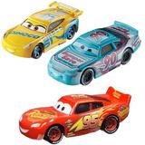 Cars Carros X3 Und Mattel,vehículo Ffj52 Rayo Mcqueen,dino,