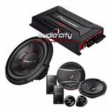 Amplificador Gm-a6604 Con Set De Medios Y 1 Subwoofer 12pulg