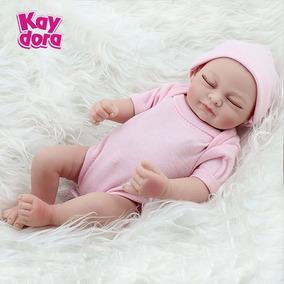 Boneca Menina Bebê Reborn Realista 28cm Barato Presente Pb1