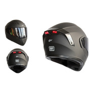Casco Kov Estelar Abatible Luz Led Con Gafas Certificado Dot