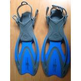 Chapaletas Buceo Snorkel Piscina Aqualung Proflex S/m 32-35