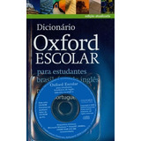 Dicionario Oxford Escolar Com Cd - Oxford