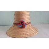 Sombrero Artesanal Wayuu Hecho A Mano. Sombrero De Pompones.