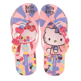Chinelo Infantil Ipanema Hello Kitty - 23 Ao 33 - Rosa