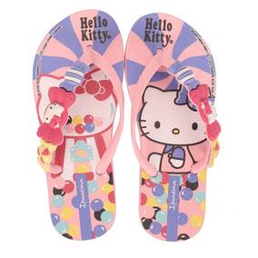 Chinelo Infantil Ipanema Hello Kitty - 23 Ao 33 - Rosa