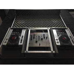 Kit Par De Cdj 200 Pionner + Mixer Vestax 2 Canais + Case