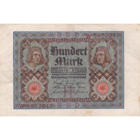 Alemania 1920 Antiguo Billete De 100 Marcos Pick 69a