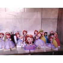 Princesa Sofia Kit Decoração De Festa 10 Display Mdf