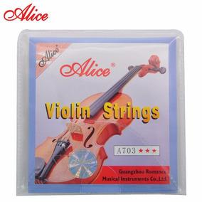 Juego De Cuerdas Para Violin 1/2 3/4 4/4 Alice A703
